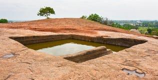 Royal Bath at Mahabalipuram. Ancient stone bath at Mahabalipuram, India Stock Image