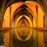 Royal baths at the Alcazar of Sevilla, Spain Stock Photography
