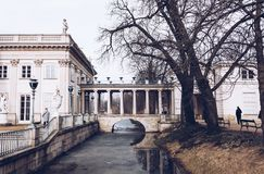 Royal Baths park in Warsaw in Poland stock photo