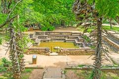 The Royal Baths of Polonnaruwa Royalty Free Stock Photography