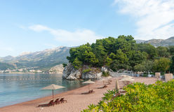 Royal beach of Montenegro Royalty Free Stock Images