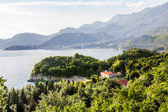 Royal Beach in the village of Milocer in Montenegro on a  summer Royalty Free Stock Images