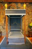 Royal bed stock photography