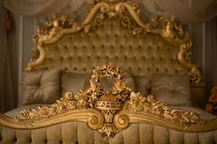 Royal bedroom interior Stock Photo