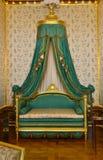 Royal bedroom. Interior in Warsaw Castle stock photos