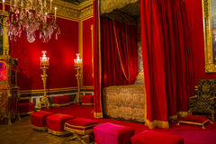The royal bedroom in Palace of Versaiiles Royalty Free Stock Images