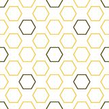 Royal bee seamless pattern. Creative honey texture of yellow and brown hexagon shapes on light background. Elegant food illustration royalty free illustration