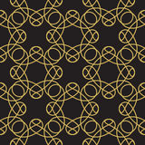 Royal Black and Gold Flourish Seamless Pattern Royalty Free Stock Photos