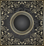 Royal black invitation card Royalty Free Stock Image