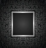 Royal black invitation card design,seamless pattern included Stock Photos
