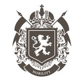 Royal blazon - luxurious coat of arms with lion Royalty Free Stock Photo