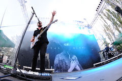 Royal Blood (British rock duo band formed in Worthing) concert at Dcode Festival Royalty Free Stock Images