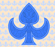 Royal blue aces with ornaments baground Stock Photos