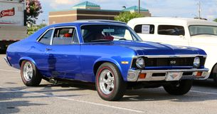 1970 Royal Blue Chevy Nova SS Royalty Free Stock Images