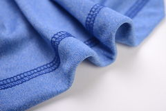 Royal blue cotton cloth Stock Photo