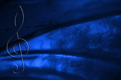 Royal Blue Grunge Music Background Stock Photo