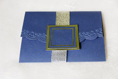 Royal Blue Invitation Royalty Free Stock Image