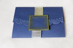 Royal Blue Invitation Royalty Free Stock Image