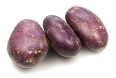 Royal Blue Potatoes Stock Photography