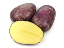 Royal Blue Potatoes Royalty Free Stock Photography