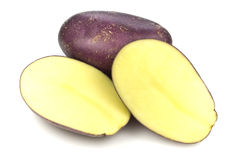 Royal Blue Potatoes Royalty Free Stock Photos