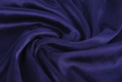 Royal blue silk texture Stock Image