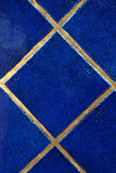 Royal blue tiles Royalty Free Stock Photo