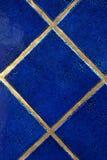 Royal blue tiles royalty free stock photo