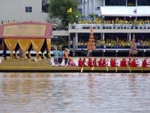 Royal boat, Bangkok, Thailand. BANGKOK, THAILAND - JUNE 15: Thai Buddhist boats travel down Chao Phaya river to celebrate the kings 60 years on the throne. June Royalty Free Stock Photo