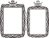 Royal border. Clip art illustration Royalty Free Stock Images
