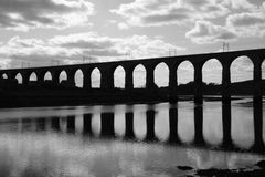 Royal Border Rail Bridge BW Stock Image