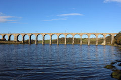 Royal Border railway bridge over River Tweed. Royalty Free Stock Images