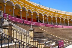Royal box in historical bull arena, Seville, Spain Royalty Free Stock Images
