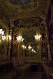 Royal box in the theatre La Fenice. Royal box with mirror and decoration in the theatre La Fenice Stock Image