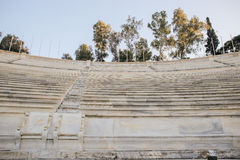 Royal boxes seats from 1908 located on the Middle West side of the Panathenaic stadium, Athens,Greece Royalty Free Stock Photography