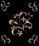 royal bronze pattern Stock Images
