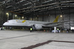 Royal Brunei Airlines Boeing 787 Dreamliner at Melbourne Tullamarine Airport Royalty Free Stock Photos