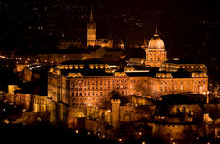 Royal Buda Castle from the Citadelle - detail. Royal Castle from the Citadelle in Budapest - Hungary Budapest castle by night (Hungary stock images