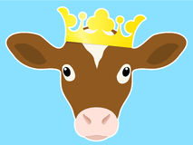Royal calf with crown Royalty Free Stock Images