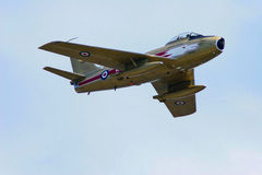 Royal Canadian Air Force F-86 Sabre Jet. Airshow photograph taken in St. Thomas, Ontario, Canada Royalty Free Stock Photos