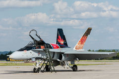 Royal Canadian Air Force (RCAF) CF-18, Canadian Paint. Royalty Free Stock Photography