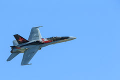 Royal Canadian Air Force (RCAF) CF-18, Canadian paint. Stock Photography