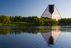 Royal Canadian Mint. The rooyal canadian mint in winnipeg manitoba reflecting over the water Stock Photography