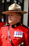 The Royal Canadian mounted police Stock Photography