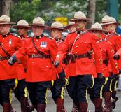 Royal Canadian Mounted Police Marching In Parade Stock Photography