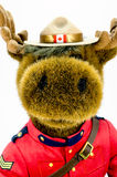 Royal Canadian Mounted Police Moose Soft Toy Royalty Free Stock Photo