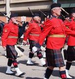 Royal Canadian Mounted Police Pipeband Royalty Free Stock Photos