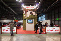 Royal Canin stand at the international dogs exhibition of Milan, Italy Royalty Free Stock Photo