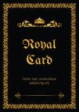 Royal card Stock Image