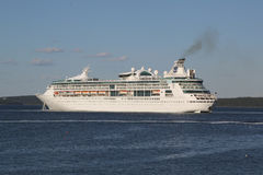 Royal Caribbean Cruise Ship Grandeur of the Seas in Bar Harbor, Maine Stock Photos